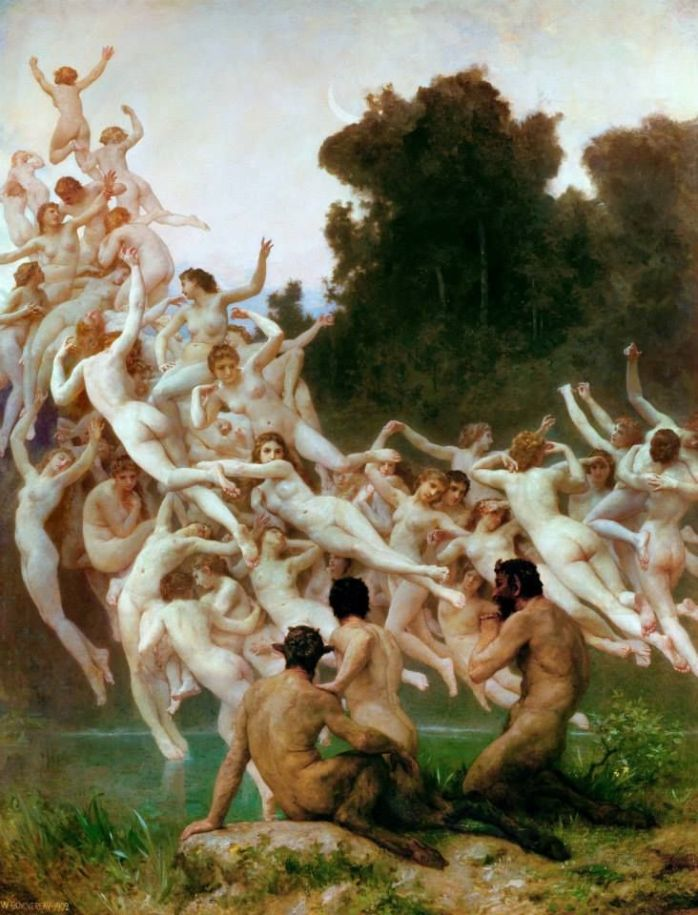 Adolphe William Bouguereau (1825-1905)  LE OREADI