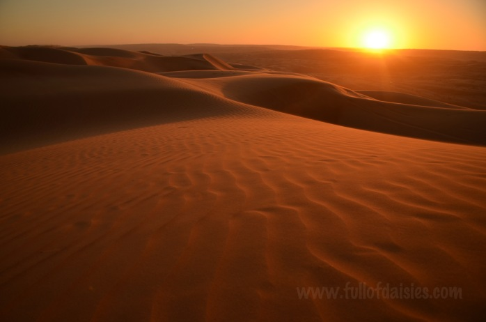 oman dune desert travel sunset