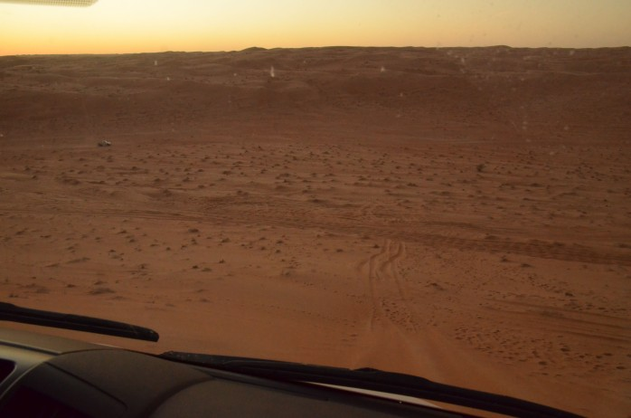 oman drive dune desert travel