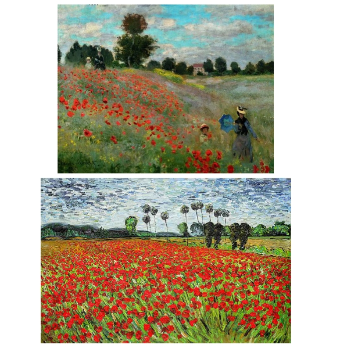 monet vangogh poppies