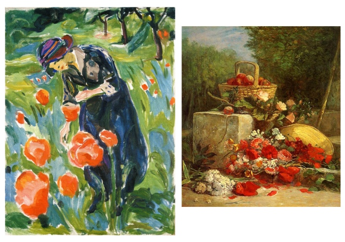 munch boudin poppy painting