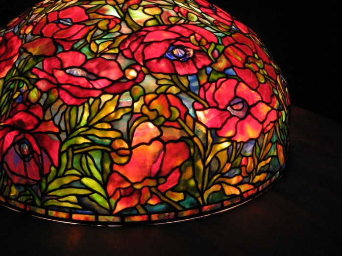 tiffany poppy lamp
