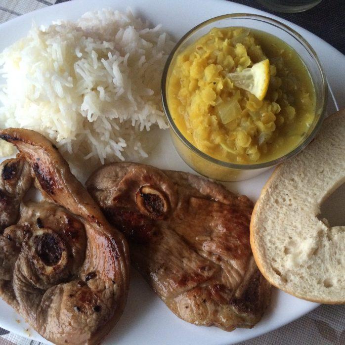 lamb lentil soup cuenca dinner