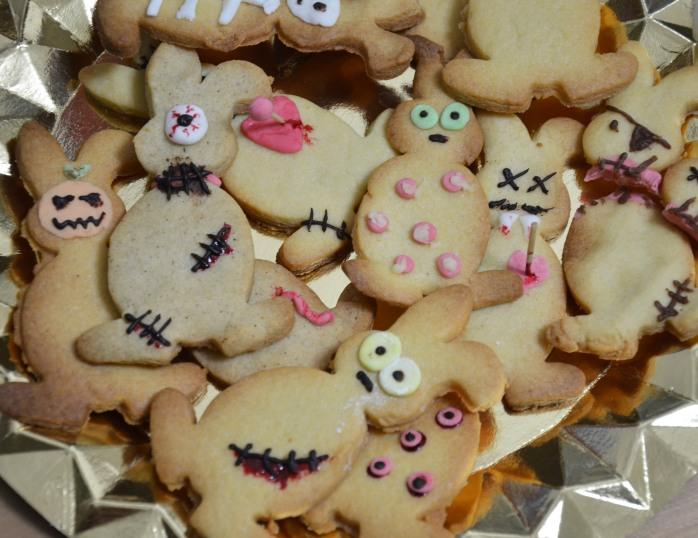 halloween zombie bunny biscuit cookie